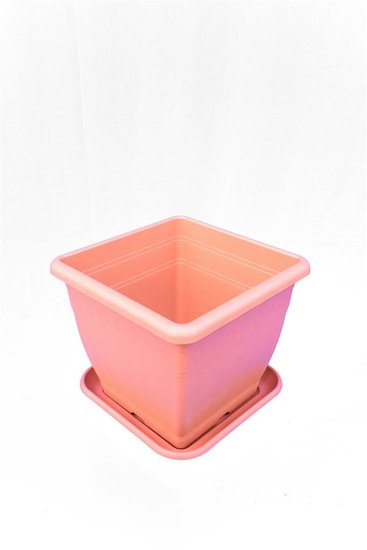 Decoratieve pot Sonja 26 x 26 cm + onderzetter