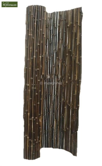 Bamboe rolscherm zwart 180cm x 180cm