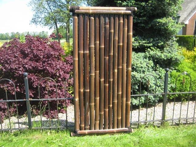 Bamboescherm Timo 90cm x 180cm BLACK