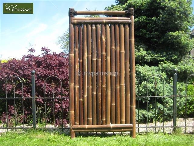 Bamboescherm Teppan 90cm x 180cm BLACK