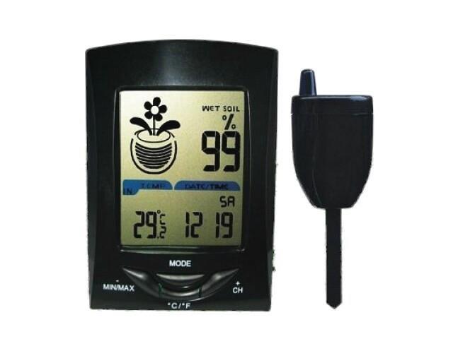 Draadloze grondvochtmeter met sensor en temperatuur
